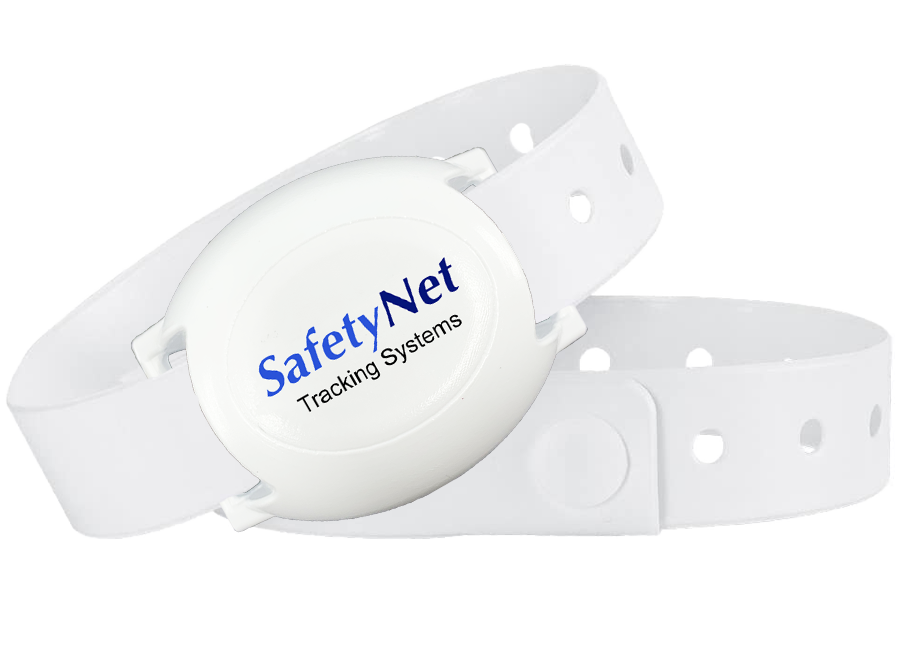 SafetyNet Tracking RF Bracelet for Cognitive Impairment, Seniors, Medical Staff Members