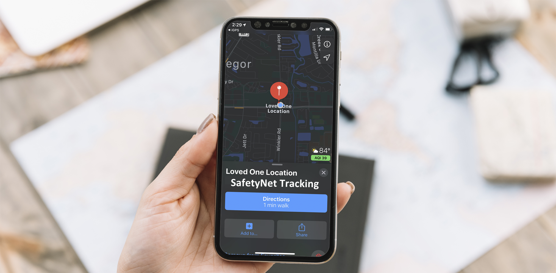 SafetyNet Tracking Systems Search and Rescue Mobile App