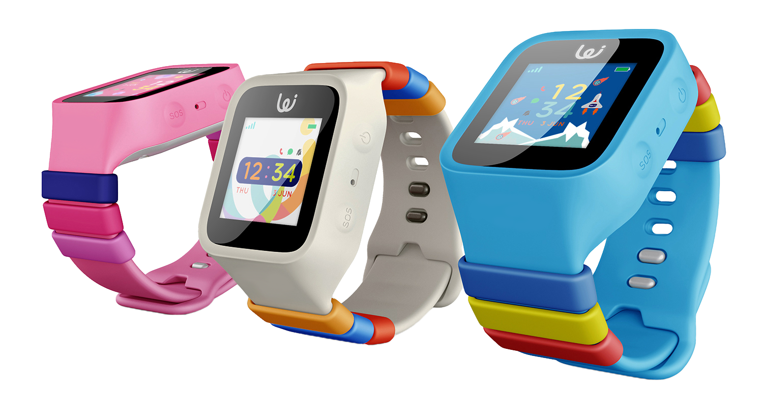 iGPS Wizard Watch 3G Pink White Blue